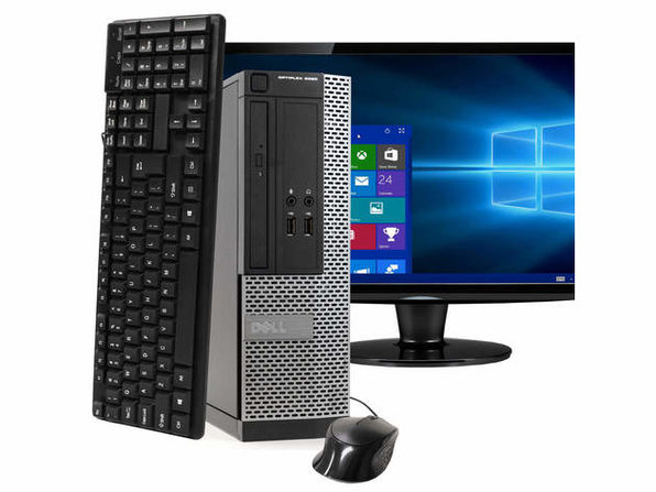 "戴尔电脑 OptiPlex 3020小型PC,3.2GHz Intel i5四核Gen 4、4GB RAM,500GB SATA HD,Windows 10 Home 64位,19"" Screen (Renewed)"