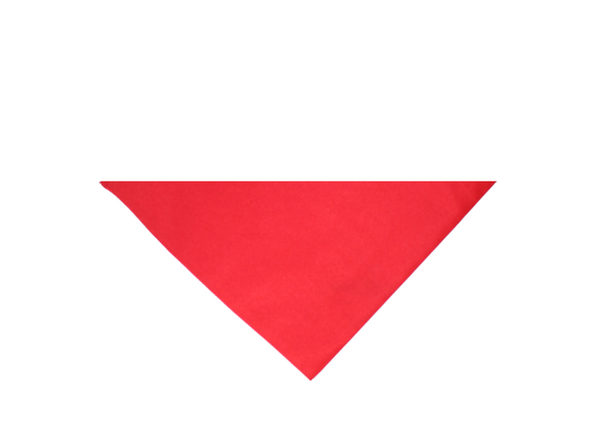 Pack of 11 Jordefano Triangle Cotton Bandanas - Solid Colors and Polyester - 30 in by 19 in by 19 in - Red
