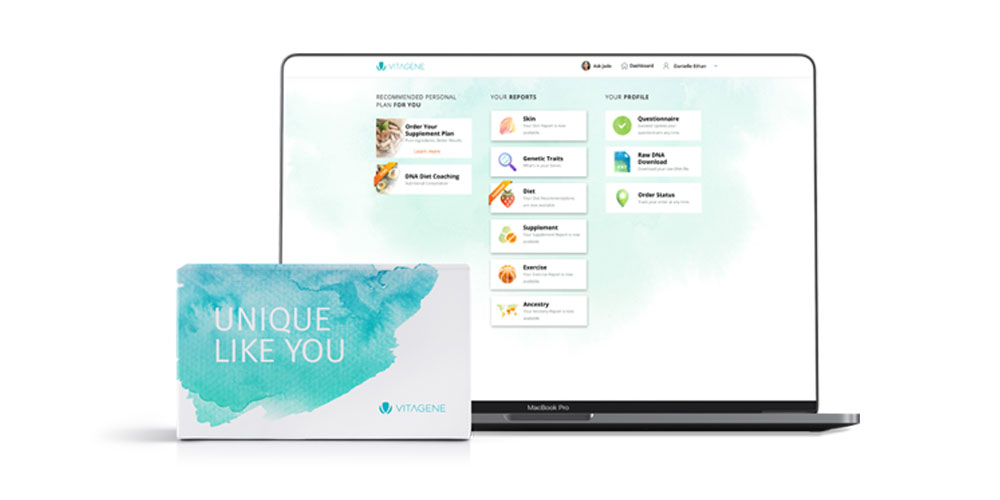 Vitagene DNA Ancestry Premium Test Kit & Health Plan Voucher, on sale for $89.99 through 9/20