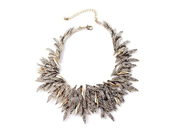 "Crystal Complex Statement Necklace By ""The Countess"" Luann de Lesseps"