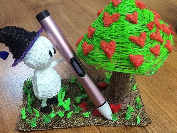 Dewang X4 Low Temperature 3d Printer Pen Rose Pink