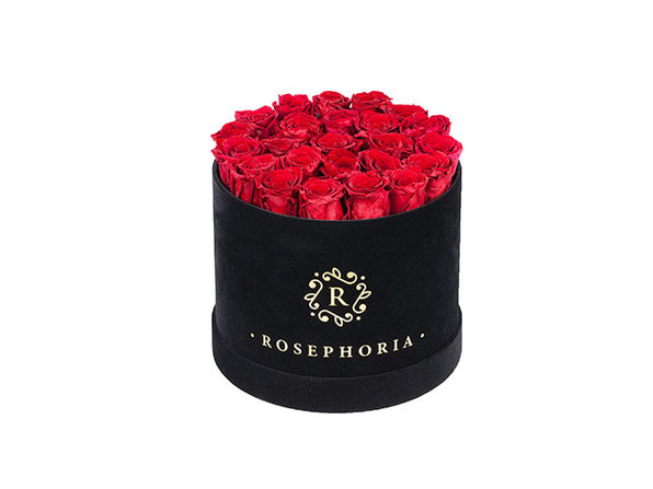 24 Roses Round Box - Red - Product Image