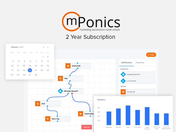 mPonics Marketing Automation: Standard Plan (Lifetime)