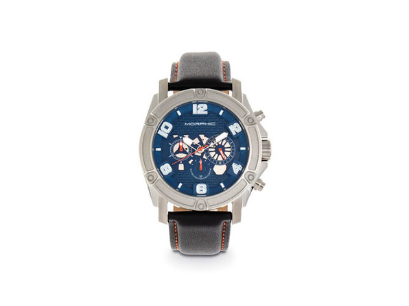 Morphic M73 Series Chronograph Leather Band Watch