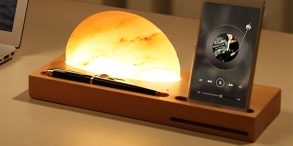 LampDepot Himalayan Salt Lamp Wireless Charger, on sale for $86.99