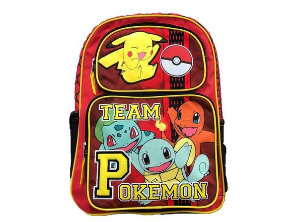 Backpack - Pokemon - Large 16 Inch - Red - Team Pokemon
