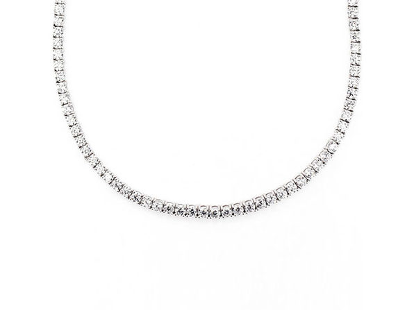 Swarovski Crystals Classic 3mm Tennis Choker Necklace (Silver)