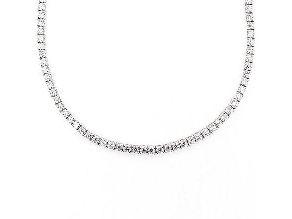 Swarovski Crystals Classic 3mm Tennis Choker Necklace (Silver)