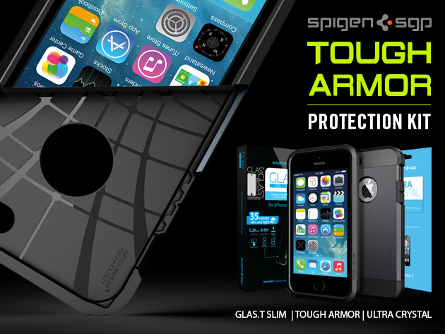 spigen tough armor iphone 5s the iphones 5 5s tough armor bundle stacksocial 18029