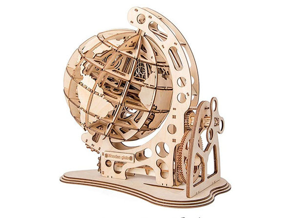 DIY 3D Wood Craft Jigsaw Puzzle Kit (Globe)
