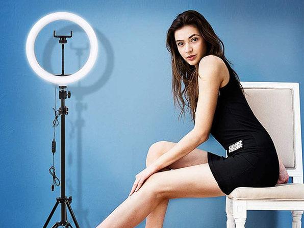2-in-1 Dimmable LED Selfie Ring Light