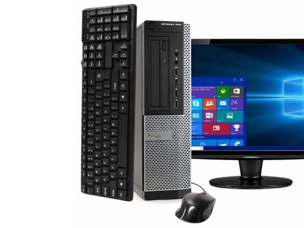 "Dell Optiplex 7010 Desktop PC, 3.2 GHz Intel i5 Quad Core Gen 3, 8GB DDR3 RAM, 1TB SATA HD, Windows 10 Professional 64 bit, 19"" Screen (Renewed)"