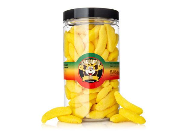 Kangaroo CBD Gummies- Banana 2000 MG - Product Image