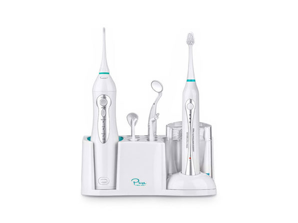Home Dental Center With Ultrasonic Electric Toothbrush & Aqua Flosser