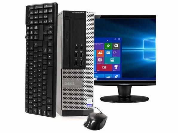 """Dell OptiPlex 7020 Desktop PC, 3.2GHz Intel i5 Quad Core Gen 4, 8GB RAM, 240GB SSD, Windows 10 Professional 64 bit, 22"""" Widescreen Screen (Renewed)"""
