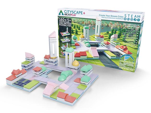 A cityscape building kit