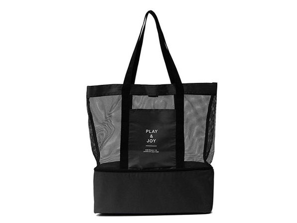 Beach Bag with Insulated Cooler