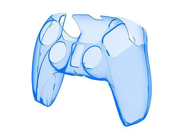PS5 Clear Controller Case Blue - Product Image