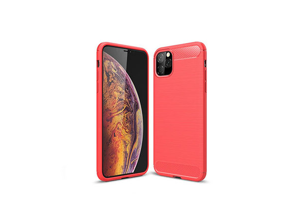 iPM iPhone 11 Carbon Fiber Protective Case (Red)