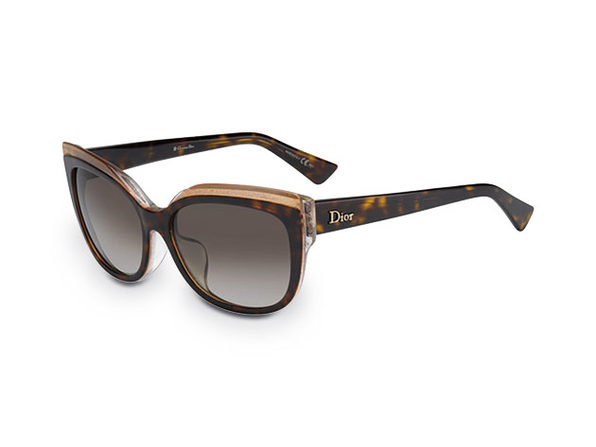 Dior Havana & Glitter Cat Eye Sunglasses
