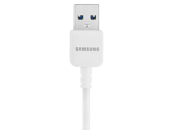 Samsung 5-Feet Micro USB 3.0 Data Sync Charging Cables for Galaxy S5/Note 3 - Non-Retail Packaging - White