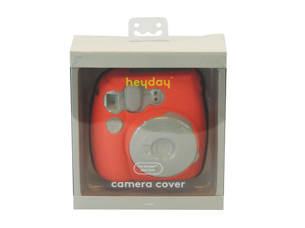 Heyday Silicone Camera Cover for Instax Mini 8/9, Peach (New Open Box)