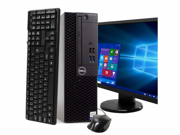 "Dell Optiplex 3050 Desktop PC, 3.2GHz Intel i5 Quad Core Gen 7, 8GB RAM, 512GB SSD, Windows 10 Professional 64 bit, BRAND NEW 24"" Screen (Renewed)"