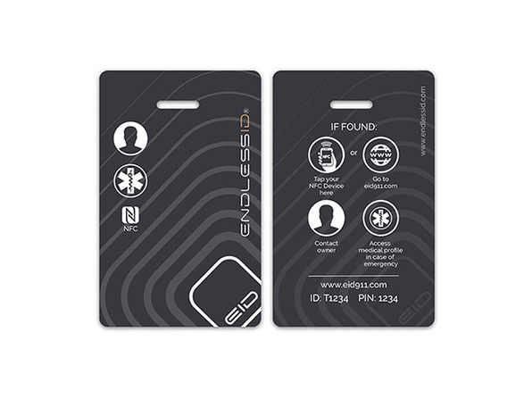 EndlessID® Smart Luggage & Backpack Tags: 4-Pack