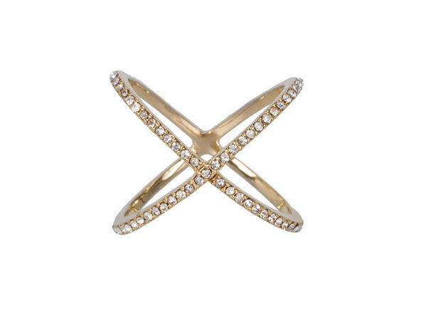 XO Pave Ring in Gold (Size 7)