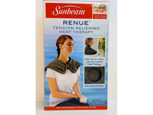 Sunbeam 2094200 Renue Heating Pad, Gray - Gray
