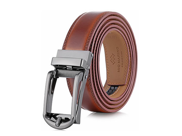 Rounded Classic LINXX Ratchet Belt – Burnt Umber