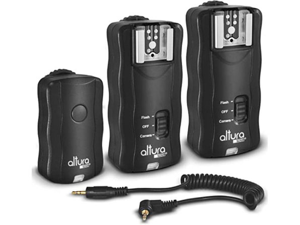 Altura Photo Wireless Flash Trigger for Canon w/Remote Shutter, 2 Trigger Pack (Like New, Damaged Retail Box)