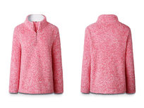 Half Zip Pullover-Pink XLarge - Product Image