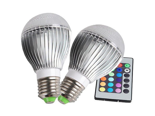 Color Changing LED Globe Bulb with Remote: 2-Pack