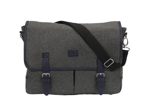 Wooly 10,000mAh Charging Messenger Bag (Dark Grey)