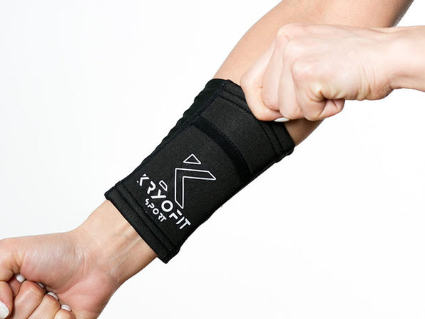 Cold Wrist/Ankle Compression Sleeves with Freeze Gel Inserts (Extra Large)