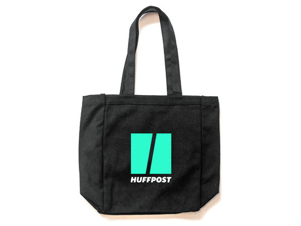 HuffPost Black Canvas Tote Bag