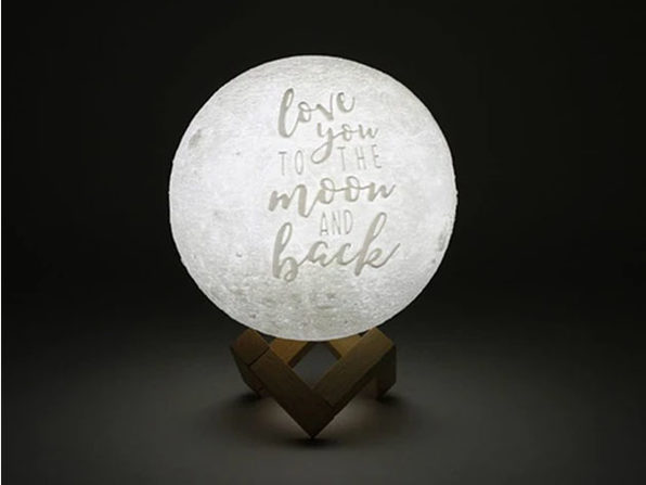 """""""Love You To The Moon And Back"""" Original Moon Lamp (6"""")"""