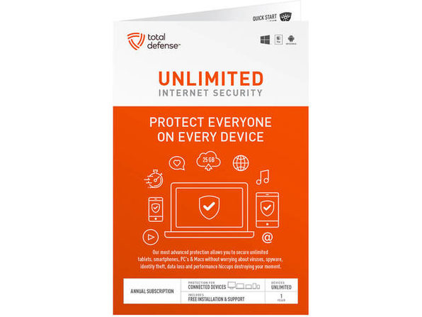 Total Defense TLD13145 Unlimited Internet Security - Product Image