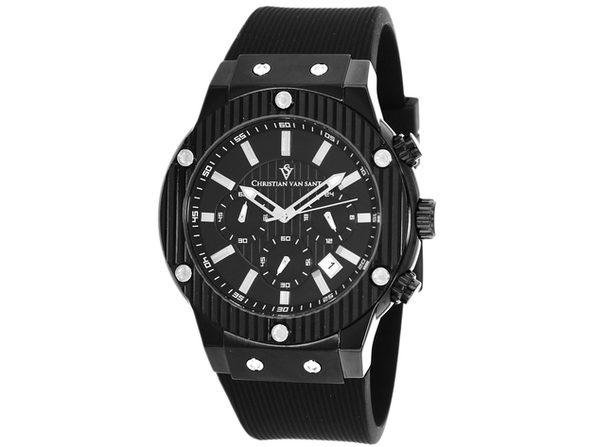 Christian Van Sant Men's Monarchy Black Dial Watch - CV8120