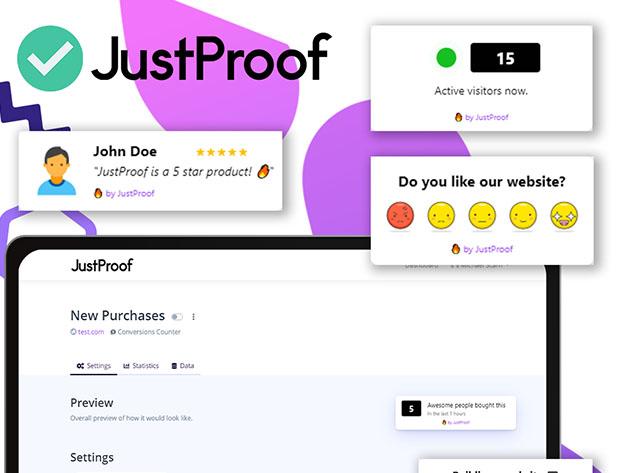 Stack Social Deal for JustProof Social Proof Notifier: Lifetime Subscription (Enterprise Plan)