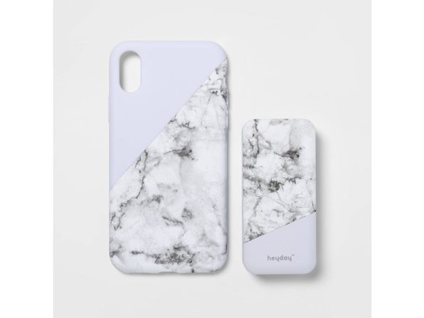 Heyday Apple iPhone X/XS Lightweight Case with 4000 mAh Capacity Power Bank, Marble (New Open Box) - Product Image