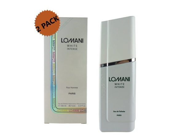Lomani White Intense Eau De Toilette Natural Spray 2-Pack