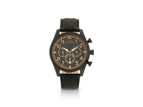 Elevon Curtiss Chronograph Watch (Black/Black)