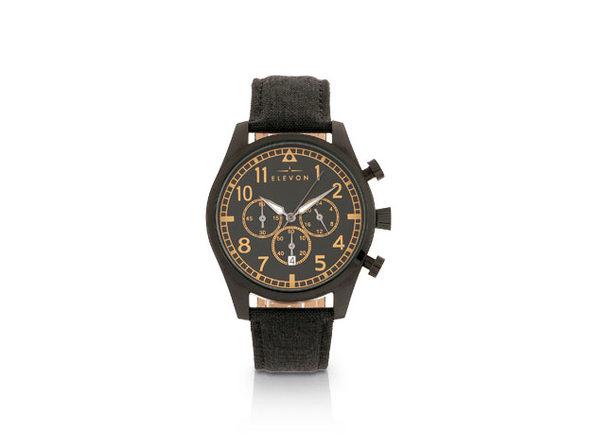 Elevon Curtiss Chronograph Watch (Black/Black)