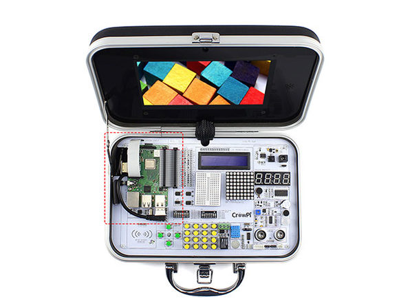 CrowPi Advanced Accessory Kit & Raspberry Pi 3B+ Board
