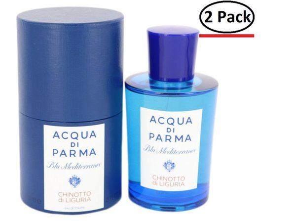 Blu Mediterraneo Chinotto Di Liguria by Acqua Di Parma Eau De Toilette Spray (Unisex) 5 oz for Women (Package of 2)