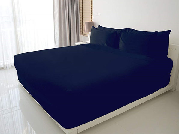 100% Egyptian Cotton Sheet Set (Navy)