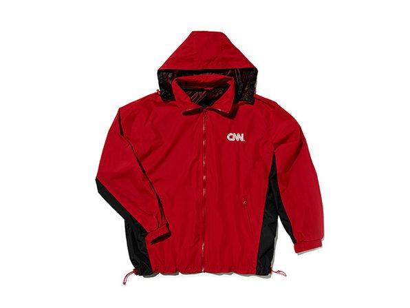 CNN 2 Tone Windbreaker (Red/Black)