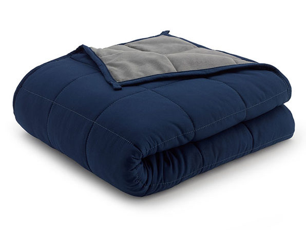 Weighted Anti-Anxiety Blanket (Grey/Navy, 15Lb)